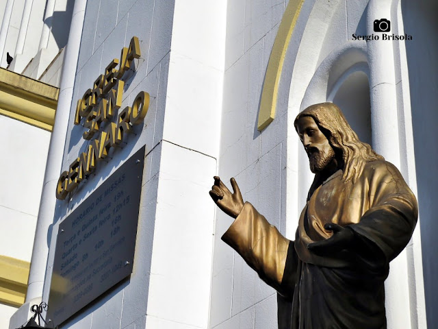 Fotocomposição feita na Igreja San Gennaro - Mooca - São Paulo