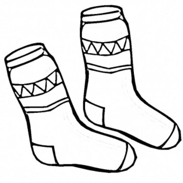 calcetines para colorear
