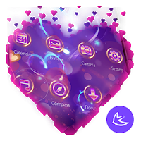 Purple Love Flower- APUS Launcher Free Theme Apk for Android