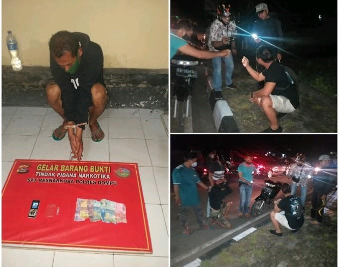 Buang Shabu Di Pinggir Jalan, Pria Ini Dibekuk Satresnarkoba Polres Dompu