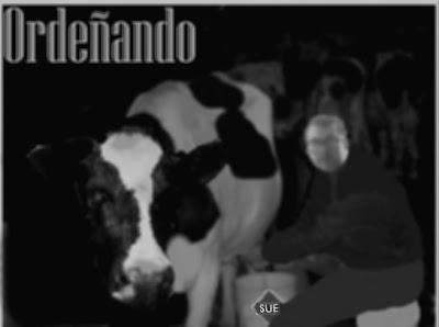 Ordeñando en escuela granja Uruguay