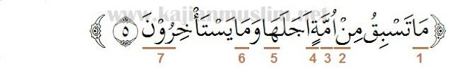Hukum Tajwid Surat Al-Hijr Ayat 5
