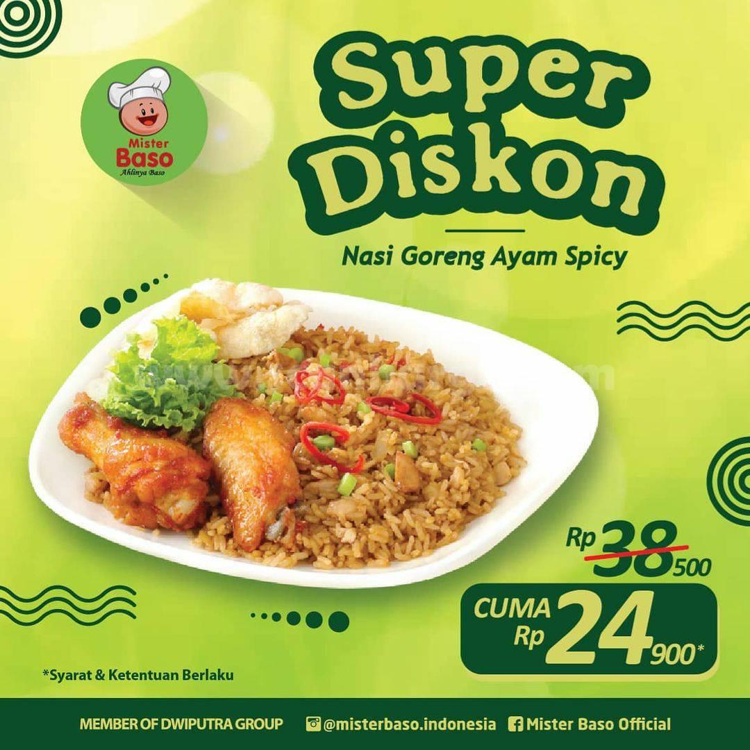 MISTER BASO Promo PAKET SUPER DISKON! Beli Nasi Goreng Ayam Spicy cuma Rp 24.900