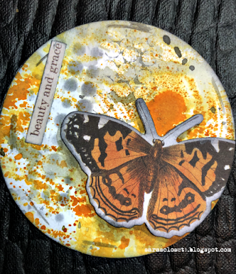 Sara Emily Barker https://sarascloset1.blogspot.com/2020/06/my-butterfly-collection.html Mixed Media AT Coins 5