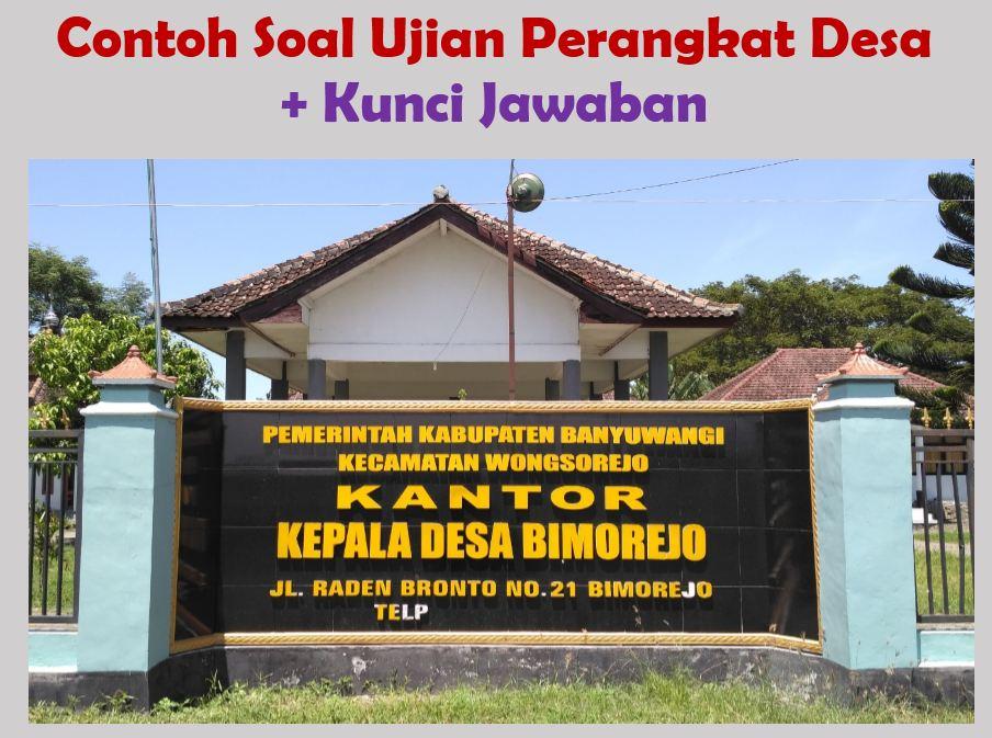 50 Soal Tes Perangkat Desa Dan Kunci Jawaban Pdf Doc Muttaqin Id