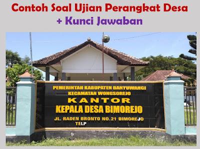 50 Soal Tes Perangkat Desa dan Kunci Jawaban (pdf, doc)
