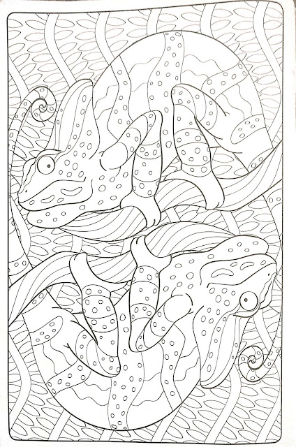 Mandala de Camaleones para colorear
