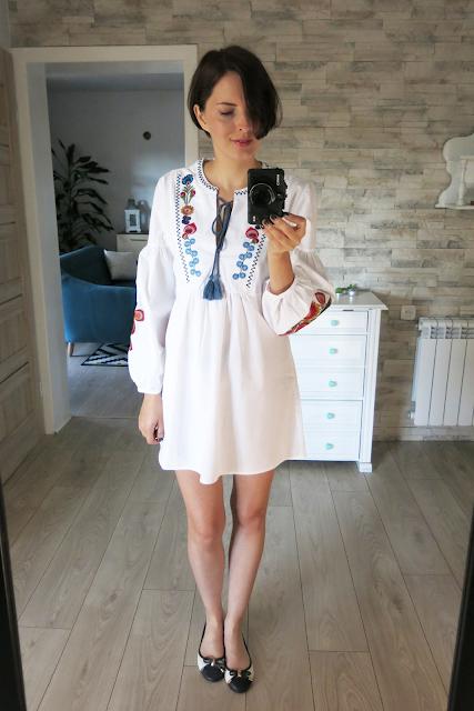Flower embroidery dress   Haftowana sukienka