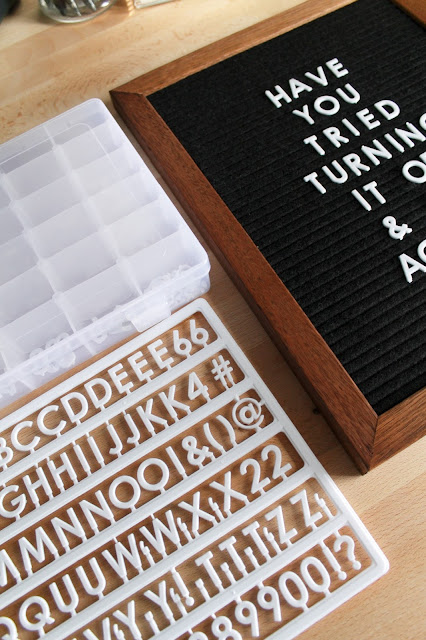 Letter Board Letter Organization // Pugs & Pearls Blog