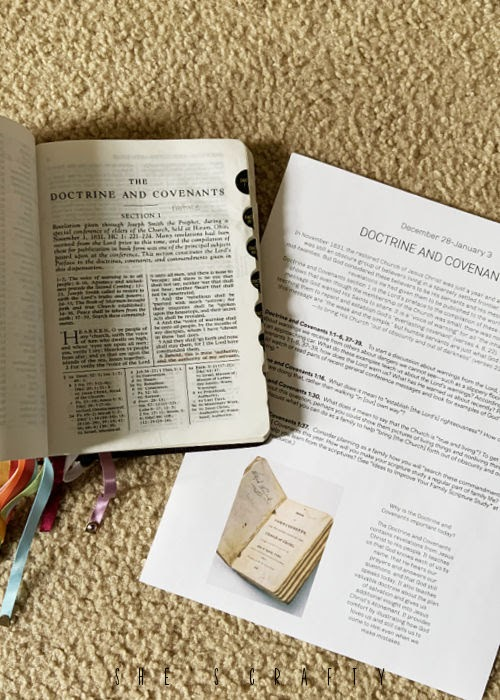 Doctrine and Covenants free printable study for Come Follow Me