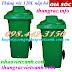 Thùng rác 120 lít nắp hở nhựa HDPE