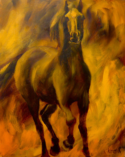 oil study of a horse