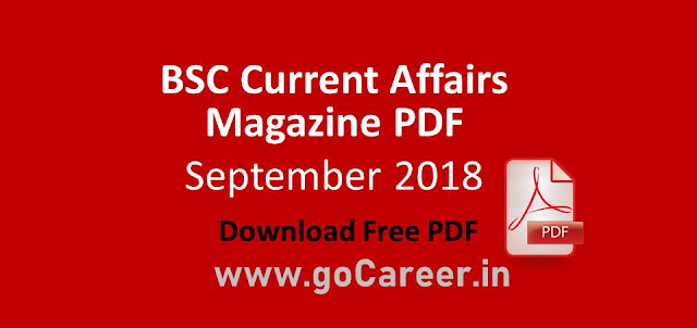 BSC September 2018 Full Magazine PDF- Download Free