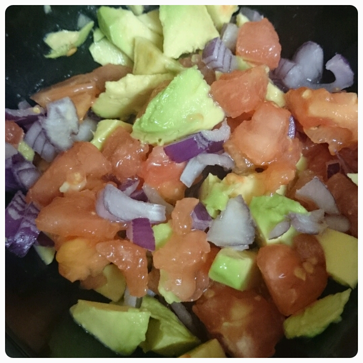 tomato, red onion and avocado salsa