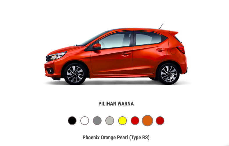 Honda Brio Phoenix Orange Pearl