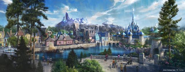 Frozen Themed Land Walt Disney Studios Paris Concept Art Disneyland