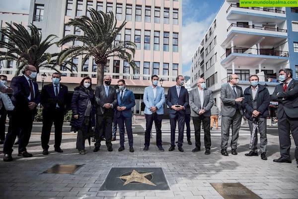 La Palma inaugura su Paseo de Estrellas dedicado a célebres científicos