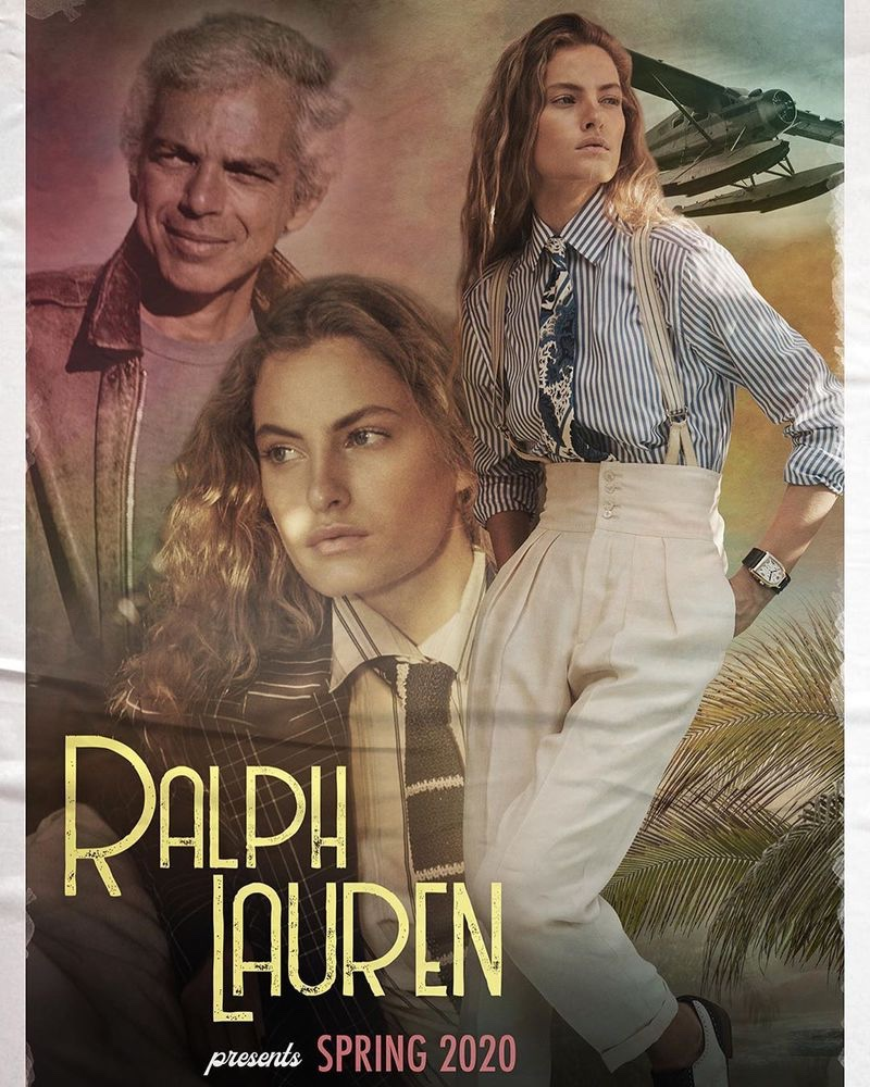 Model Faretta appears in Ralph Lauren spring-summer 2020 campaign