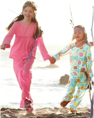 7db6cc8db3 About this Spot  Mackenzie Foy wore ruffle pyjamas in pink stripes by  Garnet Hill