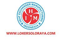 Lowongan Kerja Karanganyar dan Bekasi di PT Heat Exchanger Manufacturing Indonesia Februari 2021