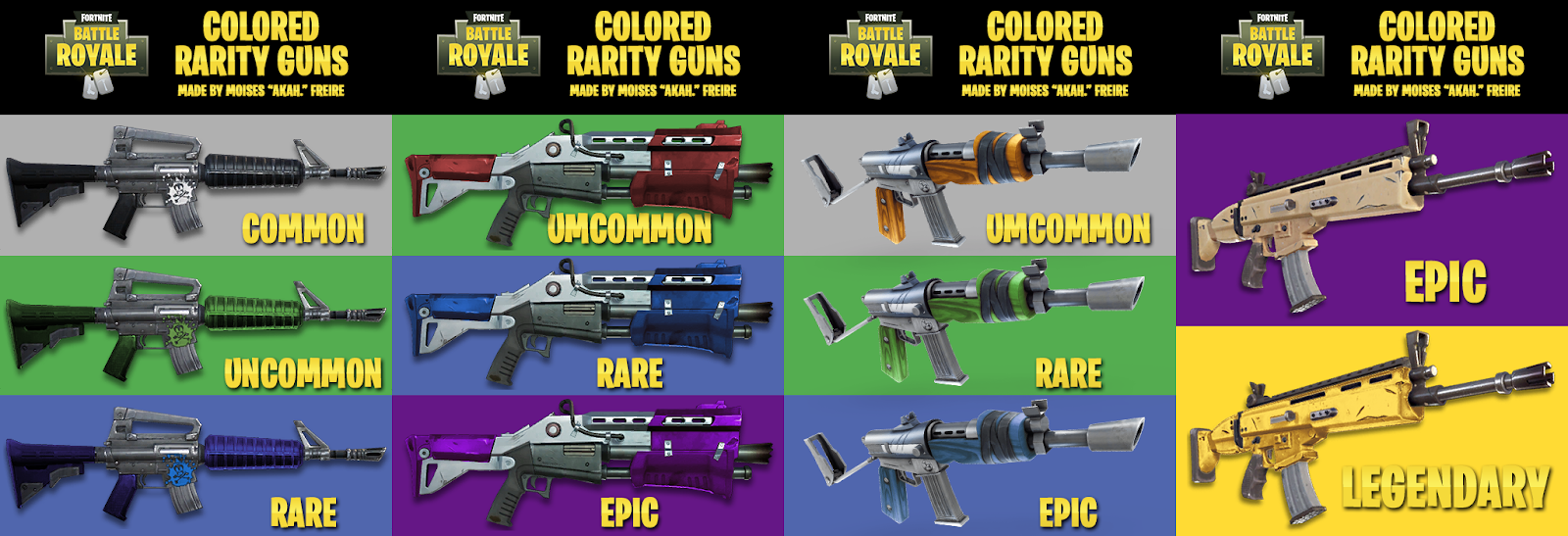 Fortnite Weapon Rarities