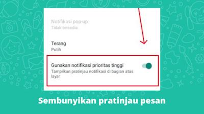 Cara Agar Pesan WhatsApp Tidak Terbaca Di Layar Depan HP