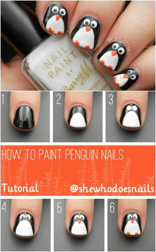 20+ Easy & Simple Christmas Nail Art Tutorials For Beginners & Learners 2019