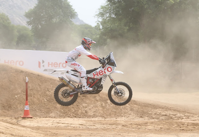 3.Hero MotoSports Team Rally rider  at Hero CIT in Jaipur today