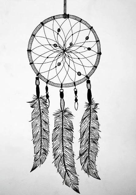Desenho de aparador de senhos hippie para fazer na parede do quarto