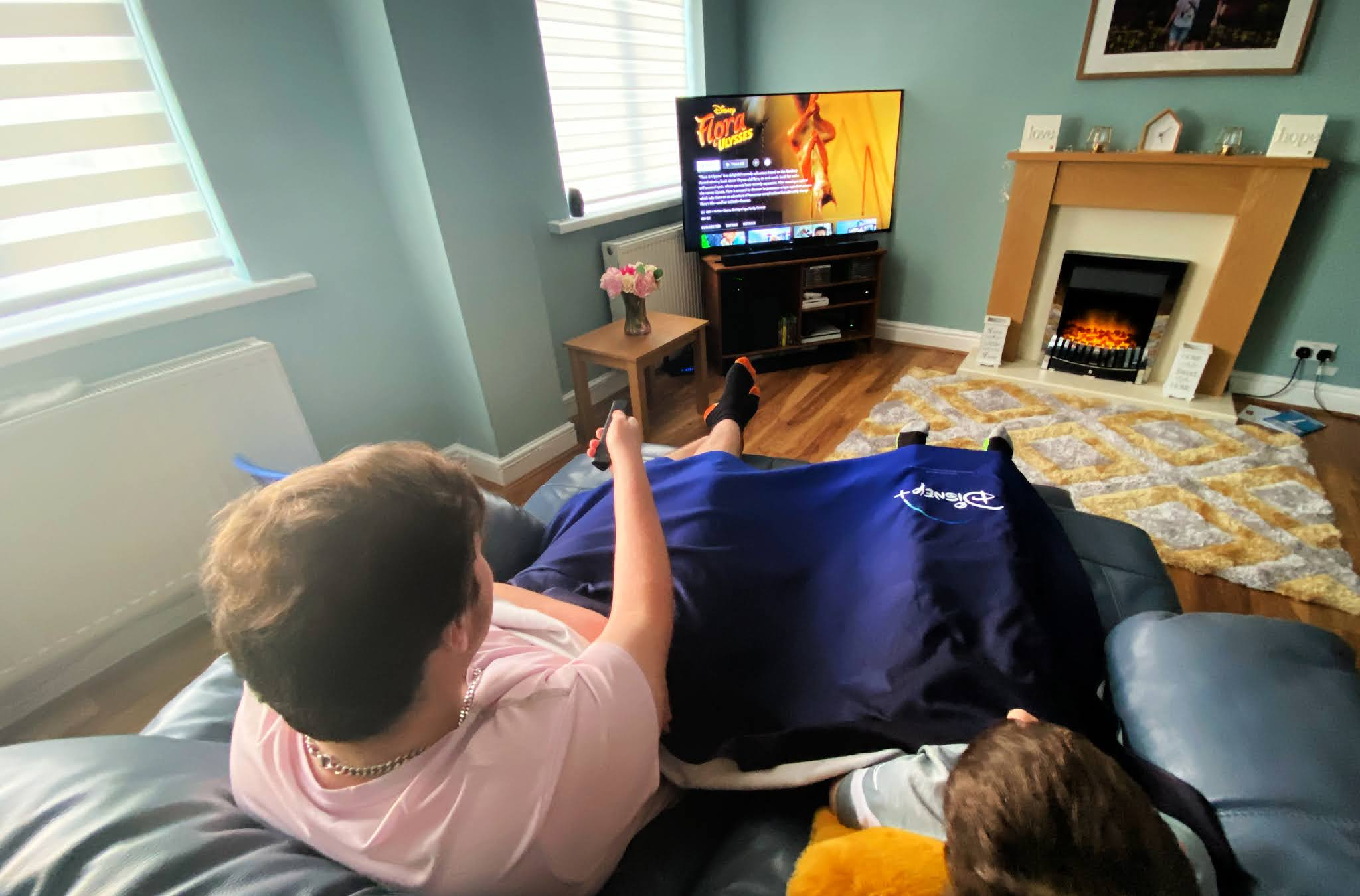 Boys watching TV
