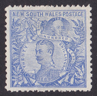 New South Wales 1905 Carrington 20 Wmk Crown