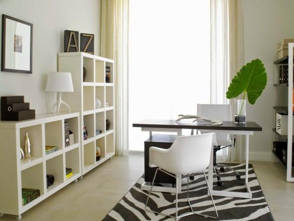 oficina color blaco negro