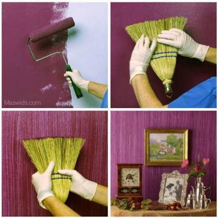 dekorasi warna cat dinding sapu