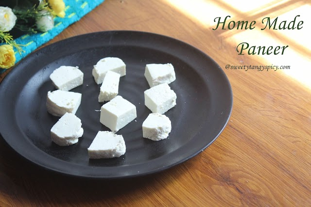 Home Made Paneer Recipe | How to Make Paneer At Home