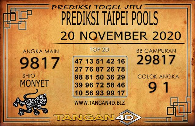 PREDIKSI TOGEL TAIPEI TANGAN4D 20 NOVEMBER 2020