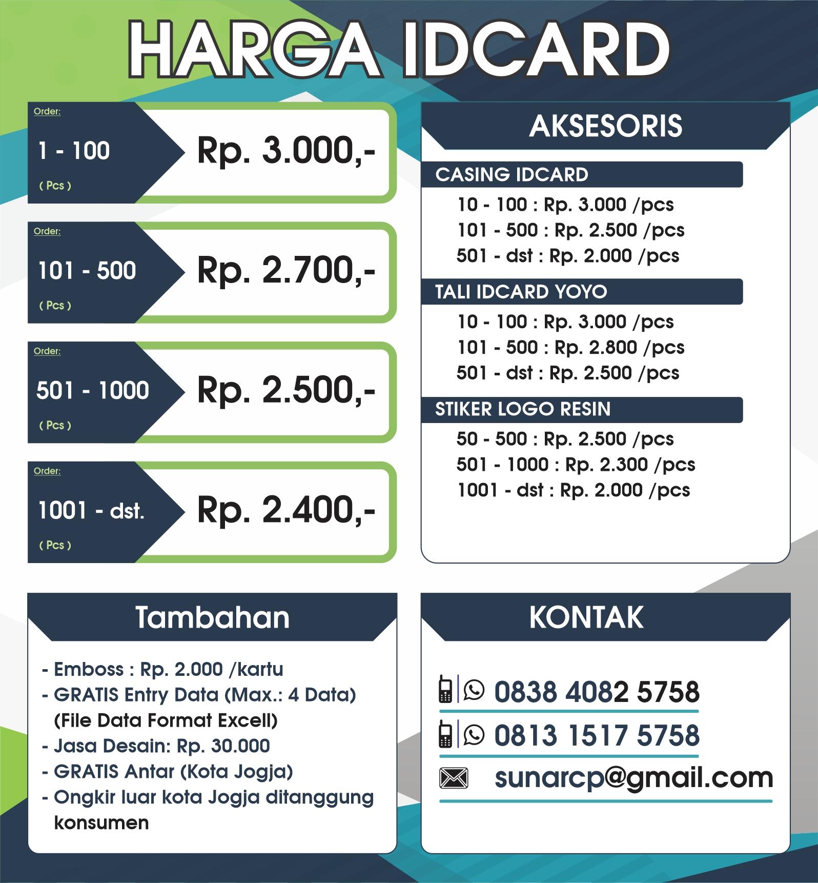 idcard, membercard, kartu member, id card murah, member card murah, idcard jogja