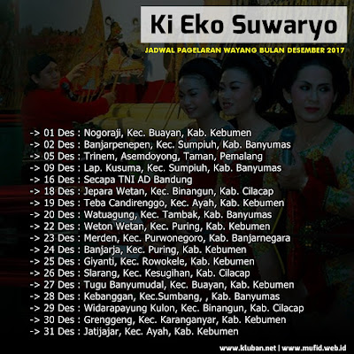 Jadwal Pagelaran Wayang Ki Eko Suwaryo