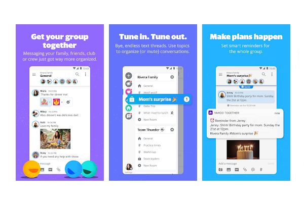 Yahoo Together group messaging app launches on Android and iOS