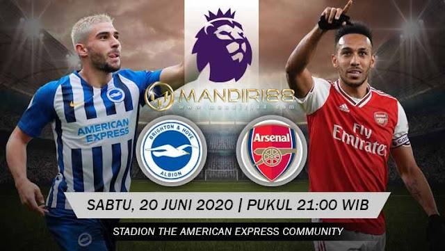 Prediksi Brighton Hove Albion Vs Arsenal, Sabtu 20 Juni 2020 Pukul 21.00 WIB