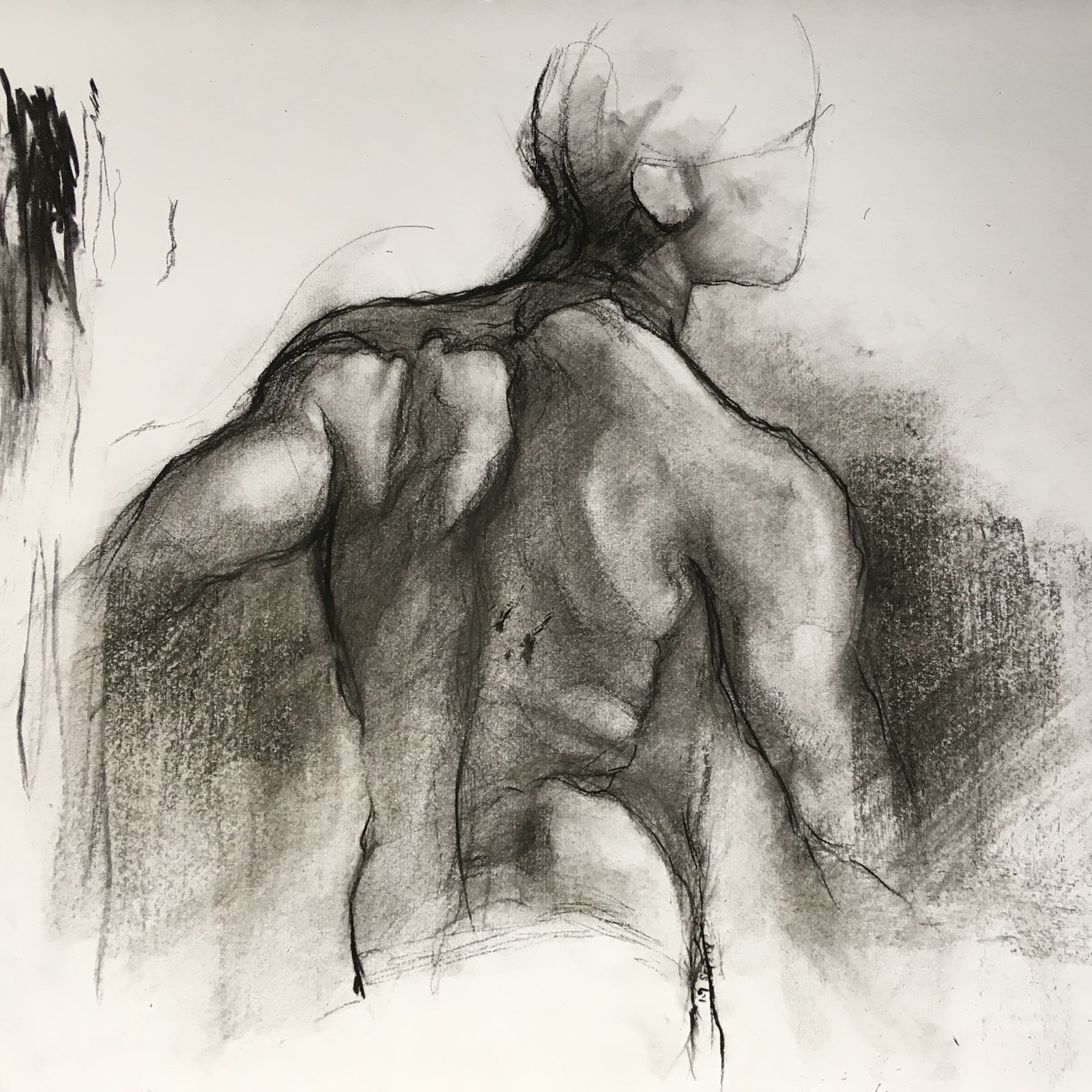 Sketch No.3 - Figure Sketch, Charcoal on Paper, available