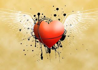 قلوب بأجنحه رومانسية