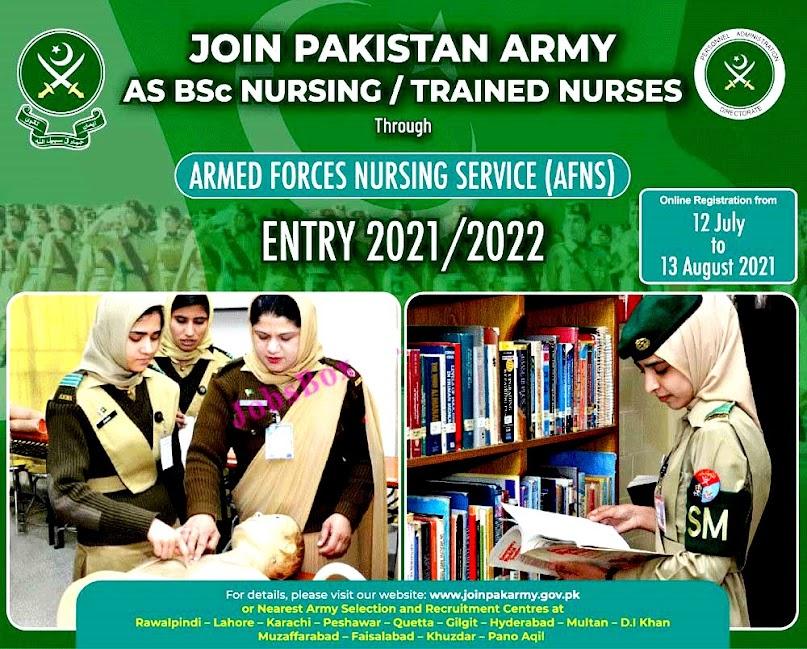 Join Pak Army through AFNS – Pak Army Nursing Latest Jobs 2021 – Eligibility Criteria