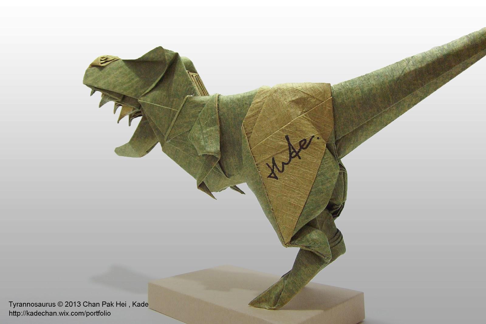 Origami T-Rex Dinosaur by Maekawa Jun - Yakomoga Origami tutorial ... | 1066x1600