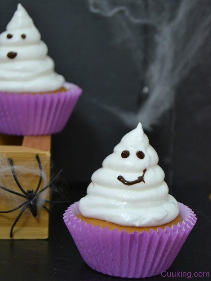 Cupcakes fantasmas