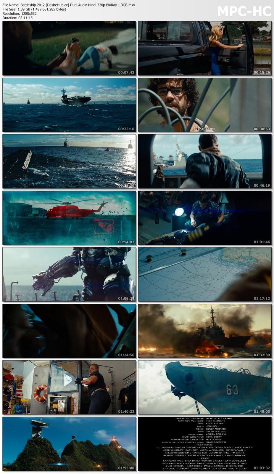 Battleship 2012 Dual Audio Hindi 720p BluRay 1.3GB Desirehub