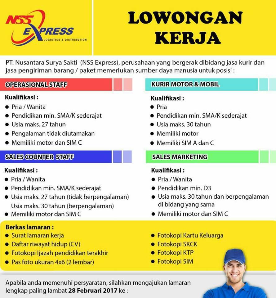 Lowongan Kerja Bandung Terbaru 2017 Di Nss Express Terbaru