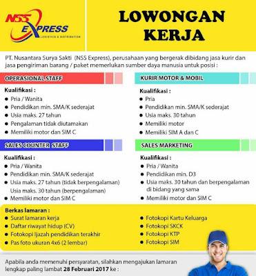 Lowongan Kerja Bandung Terbaru di NSS Express