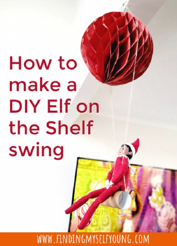 how to make a diy elf on the shelf swing