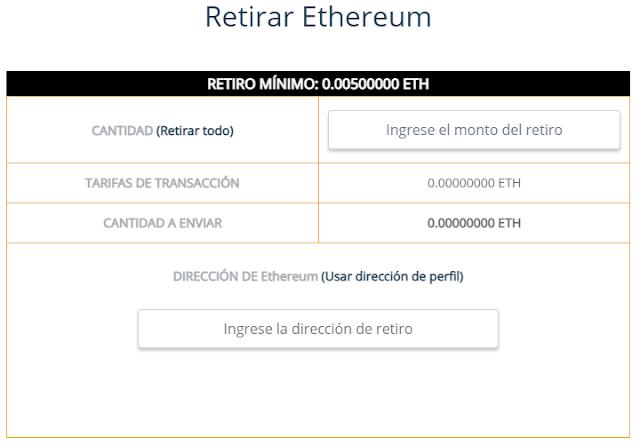 retiros free ethereum