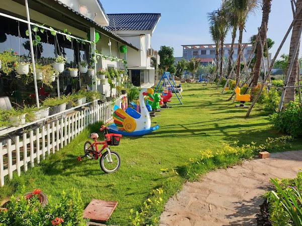 ảnh thực tế công viên khu vui chơi trẻ em tại khu nghỉ dưỡng happy garden Hồ Tràm